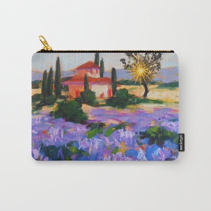 Lavender garden flower Carry-All Pouch