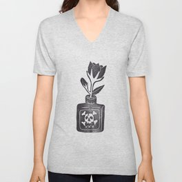 Poison Flower Unisex V-Neck