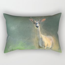 Leader of the Herd - Deer -Buck Rectangular Pillow