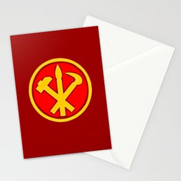 Workers Party of Korea emblem symbol Stationery Cards