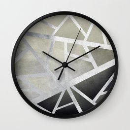 Textured Metal Geometric Gradient With Silver Wall Clock