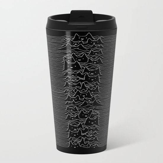 Joy Division Unknown Pleasures Metal Travel Mug