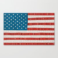 novelty Canvas Prints featuring USA by Bianca Green