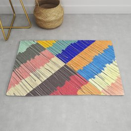 Cool Colors Collage Rug