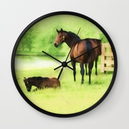 From Horse Country Wall Clock