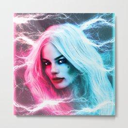 The creation of Harley Quinn - Margot Robbie Metal Print