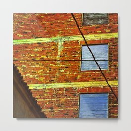 firewall and windows Metal Print