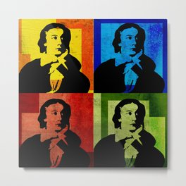 JOHN KEATS, 4-UP POP ART COLLAGE Metal Print