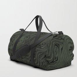Green Silk Moire Pattern Duffle Bag