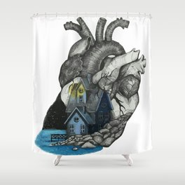Middle Shower Curtain