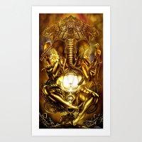 ganesha Art Prints featuring Ganesha by Giorgio Finamore