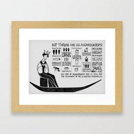 allaboardshoops! Framed Art Print