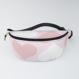 Big Heart Pattern - Pink and Living Coral Fanny Pack