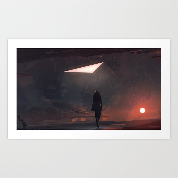 Sunsets with no hope Art Print