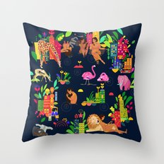 In The City: Urban Throw Pillow