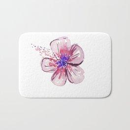 Little Lilac Flower Bath Mat