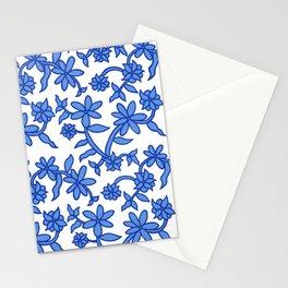 Blue Floral Porcelain Stationery Cards