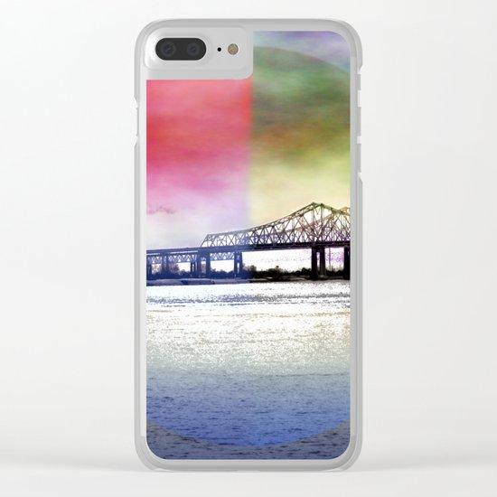 Crescent City Connection Bridge Clear iPhone Case