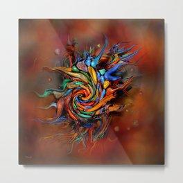 Abstract wash Metal Print