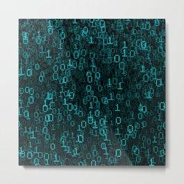 Binary Data Cloud Metal Print