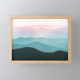Smoky Mountain National Park Sunset Layers III - Nature Photography Framed Mini Art Print