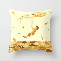 food Throw Pillows featuring Food by Alendro