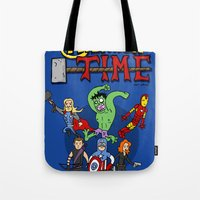 avenger Tote Bags featuring Avenger Time by MattHercock