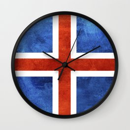 Icelandic Flag Wall Clock