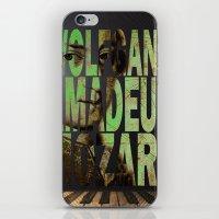 mozart iPhone & iPod Skins featuring Wolfgang Amadeus Mozart by Ganech joe