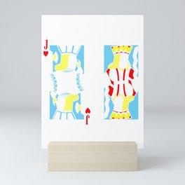 Casino Poker Cards Gift Poker Player Jack King Offsuit Mini Art Print