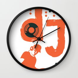 dj music song sound gift pop note techno country Wall Clock