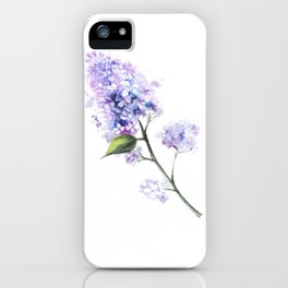 Lilac Flower Twig iPhone Case