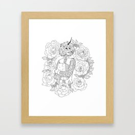Thorns and Roses Framed Art Print