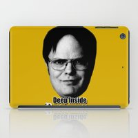 dwight iPad Cases featuring Dwight - Perfectenschlag by Thomas Rolfe