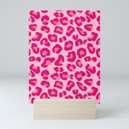 Leopard Print in Pastel Pink, Hot Pink and Fuchsia Mini Art Print