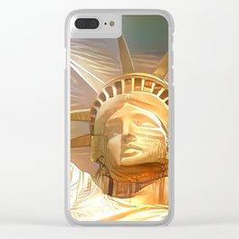 Statue de la liberté Clear iPhone Case