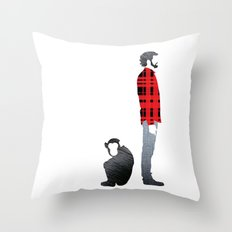 Distant relatives Throw Pillow