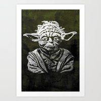 yoda Art Prints featuring Yoda by Some_Designs