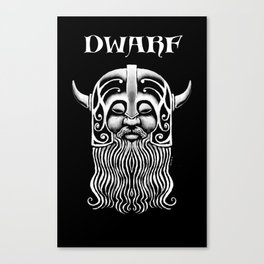 Character Creations: Dwarf Male Canvas Print