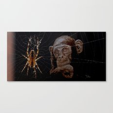 WATCHING THE SPIDER - cversion Canvas Print