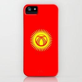 Kyrgyzstan country flag iPhone Case