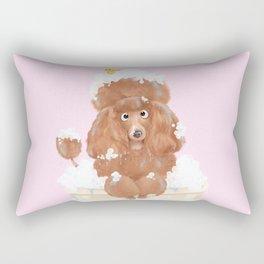 Poodle or Bubbles? Rectangular Pillow
