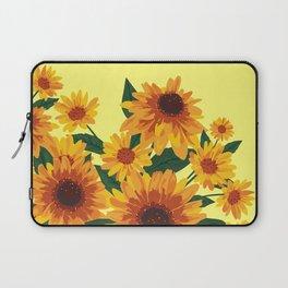 September Garden. Yellow flowers Laptop Sleeve