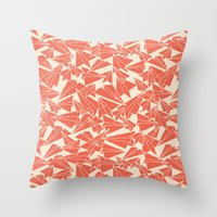aviation Throw Pillows featuring School Yard Aviation Solid by Dianne Delahunty