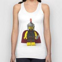 gladiator Tank Tops featuring Roman gladiator Minifig by Jarod Pulo