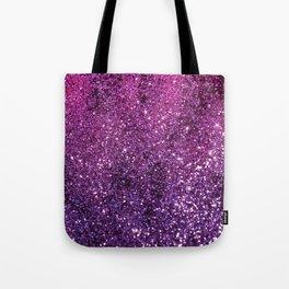 Purple Pink Ombre Lady Glitter #1 #shiny #decor #art #society6 Tote Bag