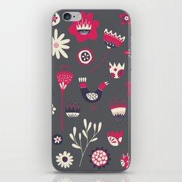 Scandi Floral Dark iPhone Skin