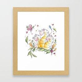 Hydra de Flora Framed Art Print