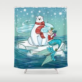 Icy Pals Shower Curtain