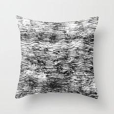 Black Pattern#4 Throw Pillow